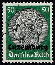 Buy Luxembourg #N13 Hindenburg - German Occupation; Used (3Stars) |LUXN13-01XRP