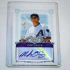 Buy MLB MICAH OWINGS DIAMONDBACKS AUTOGRAPHED 2006 BOWMAN STERLING RC MINT