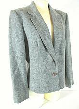 Buy Koret womens L/S gray 100% MERINO WOOL 2 button fully lined jacket (F)