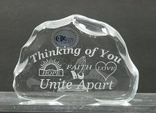 Buy Thinking of you 24% LEAD CRYSTAL PAPERWEIGHT made in USA Hope Faith Love