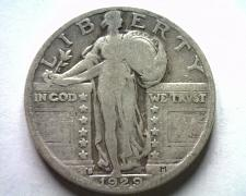 Buy 1929-S STANDING LIBERTY QUARTER VERY GOOD / FINE VG/F NICE ORIGINAL COIN