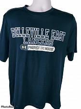 Buy Belleville East Lancers Men's T-Shirt Size Large Loose Heat Gear Blue