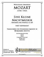 Buy Mozart - Eine Kleine Nachtmusik, first movement (Woodwind Quintet)