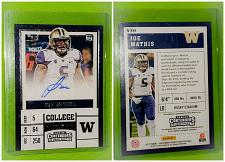 Buy NFL Joe Mathis Autographed 2017 Panini College Ticket Rc Mint