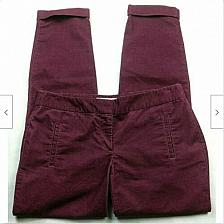 Buy Ann Taylor Loft Womens Zoe Corduroy Skinny Pants Size 2 Solid Red Cuffed
