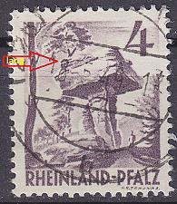 Buy GERMANY Alliiert Franz. Zone [RheinlPfalz] MiNr 0033 y a IV ( O/used )
