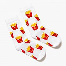 Buy New Mcdonald World Famous Fries Pattern Socks One Size Fits most Free Shipping