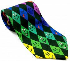 Buy Smiley Face Big Diamonds Emojis Colorful Men's Necktie Novelty