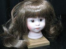 Buy VTG Bisque Porcelain Doll Head with Long Hair & Eyes New Old Stock flange