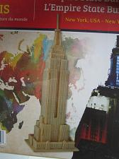 "Buy New York Empire State Building 3D Wooden Puzzle SEALED Assembled 11.7"" High"