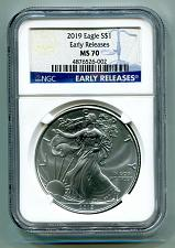 Buy 2019 AMERICAN SILVER EAGLE NGC MS70 CLASSIC EARLY RELEASES BLUE LABEL, AS SHOWN