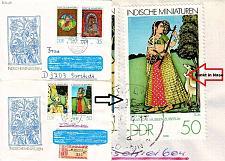 Buy GERMANY DDR [1979] MiNr 2418-21 F23 ( Brief ) Kunst Plattenfehler