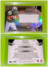 Buy Nfl Stephon Hill Jets 2012 Bowman Sterling jumbo game-worn Jersey Sp75 Mint