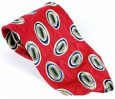 Buy Robert Talbott Men's Necktie 100% Silk Blue Red White Geometric