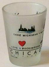 "Buy Chicago Lake Michigan Sears Tower 2.25"" Collectible Frosted Shot Glass"