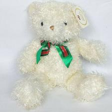 """Buy NWT Russ White Christmas Bear with Bow Caress Soft Pets Plush 17"""""""