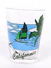 "Buy California Sailboat Seagull Palm Tree Ocean Scene 2.5"" Collectible Shot Glass"