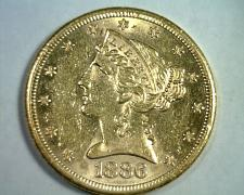 Buy 1886-S FIVE DOLLAR LIBERTY GOLD CHOICE ABOUT UNCIRCULATED+ CH AU+ ORIGINAL COIN