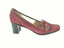 Buy Calvin Klein Burgundy Suede Like Loafer Block Heels Shoes Womens 8.5 M (SW18)