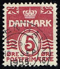 Buy Denmark #224 Numeral; Used (0.25) (1Stars) |DEN0224-10