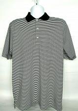Buy F & G Tech Men's Golf Polo Size Large Black White Striped Greenbriar Hills CC