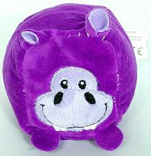 "Buy Kellytoy Hippopotamus Purple Blocky Plush Stuffed Animal 4.5"""