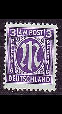 Buy GERMANY Alliiert AmBri [1945] MiNr 0017 b B ( **/mnh )