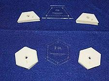 "Buy Mylar 2"" Hexagon & 2"" Half Hexagon 102 Piece Set - Quilting / Sewing Templates"