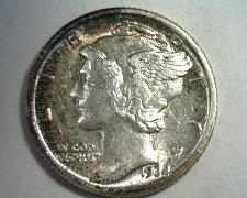 Buy 1934 MERCURY DIME CHOICE ABOUT UNCIRCULATED CH AU SUPER ATTRACTIVE TONING NICE