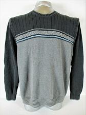 Buy DOCKERS mens Sz XL L/S black gray 100% COTTON sweater (A7)