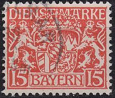 Buy GERMANY Bayern Bavaria [Dienst] MiNr 0027 y ( O/used )