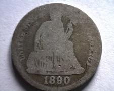 Buy 1890 SEATED LIBERTY DIME ABOUT GOOD+ AG+ ORIGINAL COIN BOBS COIN FAST SHIPMENT