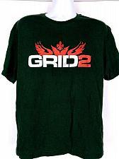 Buy Grid 2 Men's Graphic Short Sleeve T-Shirt Black Size XL
