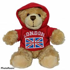 Buy Keel Toys Ltd London Flag Hoodie Brown Teddy Bear Plush Stuffed Animal 7""