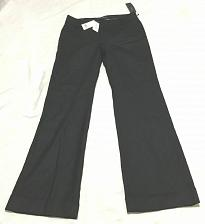 Buy Banana Republic $98 Martin Fit Trouser Leg Pants Black Stretch Wool 6 In Lining