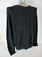 Buy CHAPS mens XL BLACK 100% COTTON RIBBED HEAVYWEIGHT SWEATER (W)P