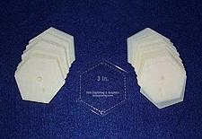 "Buy Mylar 3"" Hexagon 51 Piece Set - Quilting / Sewing Templates"