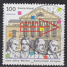 Buy GERMANY BUND [1999] MiNr 2028 IV ( O/used ) [01] Plattenfehler