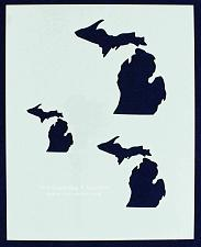 "Buy State of Michigan 8x10 Stencil (2"", 3"", 4"") 14 Mil Mylar - Painting /Crafts/ Tem"