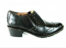Buy Born Black Leather Slip On Studded Booties Shoes Women's 8 1/2 M (SW11)