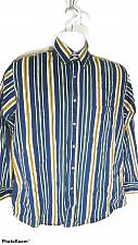 Buy Trader Bay Men's Casual Shirt Size Medium Striped 100% Cotton Button Front Shirt