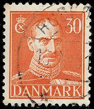 Buy Denmark #284 King Christian X; Used (3Stars)  DEN0284-05XRS