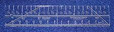 """Buy 6"""" Mini Ruler Imperial/metric Template 1/4""""- Clear Acrylic - Quilting/sewing"""