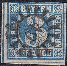 Buy GERMANY Bayern Bavaria [1850] MiNr 0002 II ( O/used ) [06]