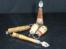 Buy LOT of Wood Beer Bottle Openers Las Vegas Cop Humor Salt n Pepper Cork Vintage