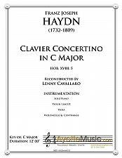 Buy Haydn - Clavier Concertino in C Major (Hob. XVIII: 5)