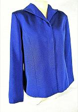 Buy VICTOR COSTA womens Medium L/S blue HIDDEN BUTTONS fully lined jacket (B9)