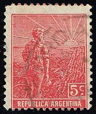 Buy Argentina #194 Farmer and Rising Sun; Used (0.30) (2Stars) |ARG0194-02XBC