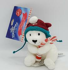 Buy Hallmark North Pole White Polar Bear w/Hat Plush Christmas Ornament New 2014