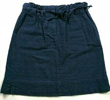 Buy Loft Womens A Line Skirt Size XSP Solid Blue Pull On Drawstring